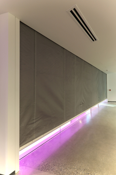 Vertical Coiling Fabric Smoke Fire Rated Curtain