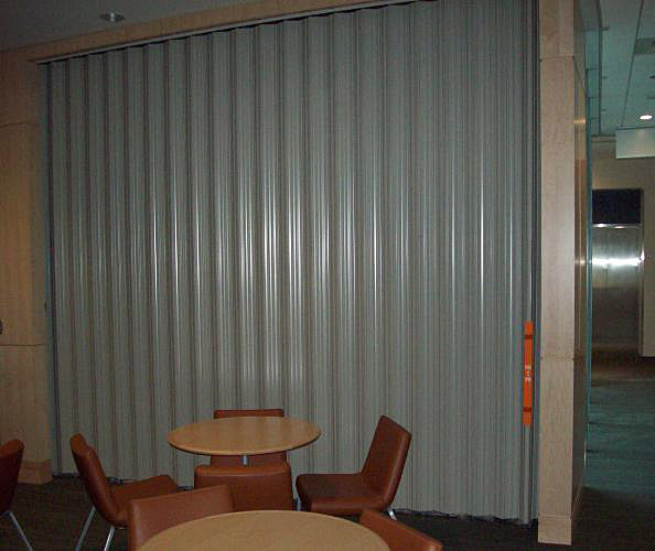 Curtains Ideas accordion curtain : Accordion Fire Doors - Interior Tech | Seattle | Portland