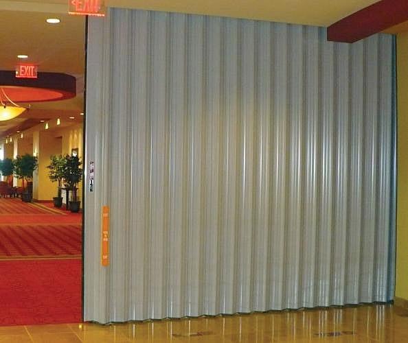 Curtains Ideas accordion curtain : Accordion Fire Doors - Interior Tech | Seattle | Portland