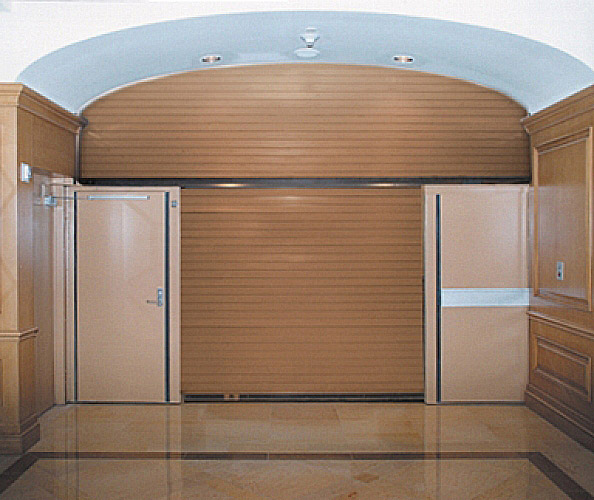 Vertical Coiling Fire Door With Egress Interior Tech
