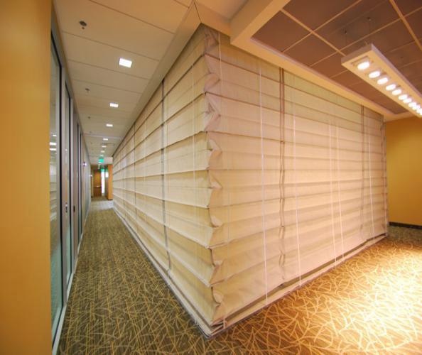 Vertical Lift Custom Fire Rated Curtain Interior Tech
