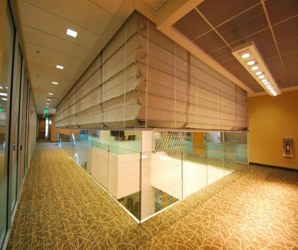 Vertical Lift Custom Fire Rated Curtain Interior Tech