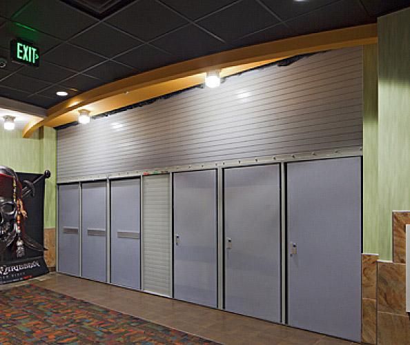 Vertical coiling fire door with egress interior tech