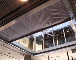 HORIZONTAL ATRIUM FABRIC FIRE RATED CURTAIN
