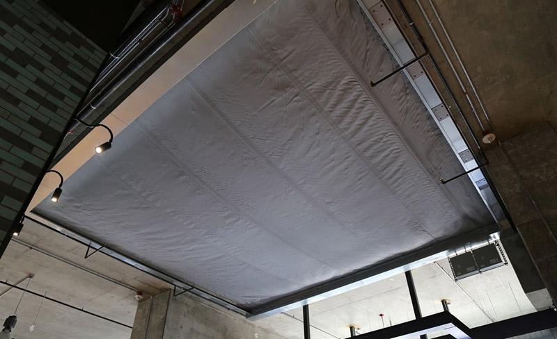 Horizontal Atrium Fabric Fire Rated Curtain Interior