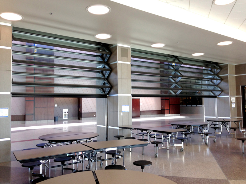 Skyfold door multiple operable walls for Collapsible glass wall