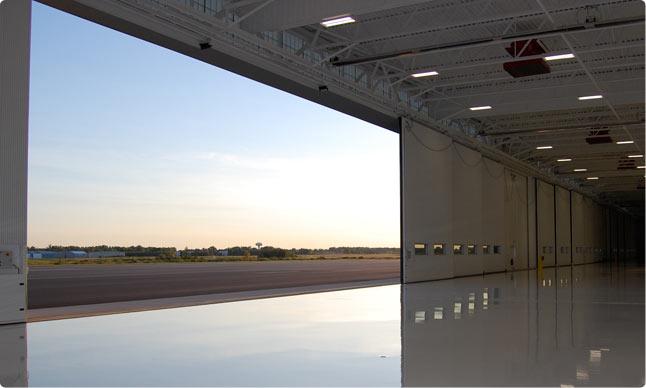 Hangar doors interior tech seattle portland for Door 00 seatac airport