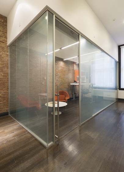 Operable glass partitions modernus interior tech seattle portland Interior glass partition systems