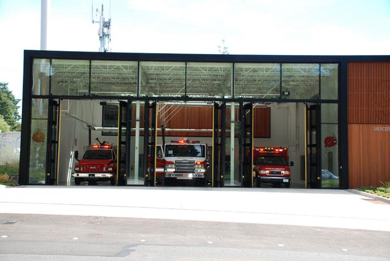 Four Fold Fire Station Doors Interior Tech Seattle