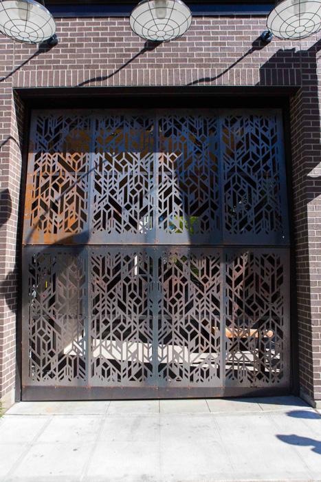 Schweiss Industrial Look Vertical Bifold Door Interior