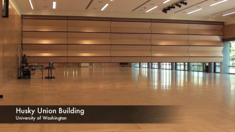 Skyfold – Vertical Folding Acoustical Partitions, installed by Interior Tech
