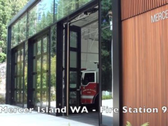 Four-Fold Fire Station Doors