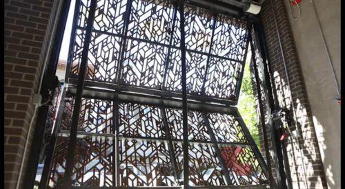 Schweiss Industrial-Look Vertical Bifold Doors