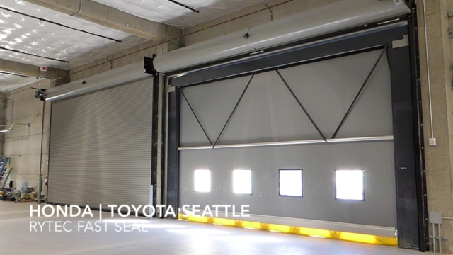 Honda | Toytota of Seattle- Rytec Fast Seal High-Speed Door, installed by Interior Tech