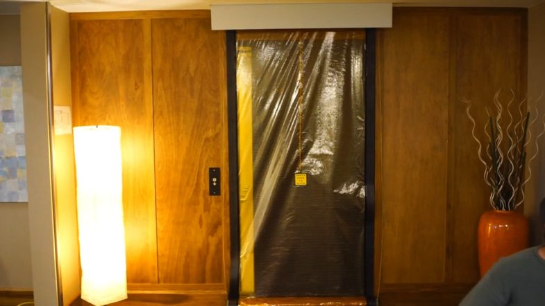 Smoke Guard Elevator Smoke Containment, installed by Interior Tech