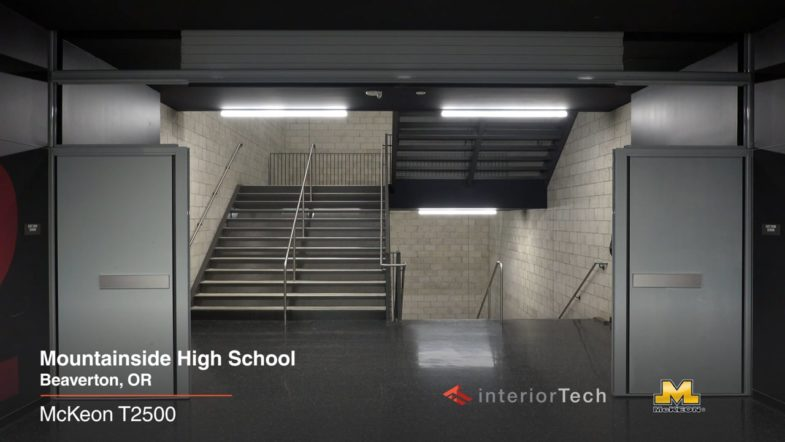 McKeon G1500, T2000 & T2500, at Mountainside High School, installed by Interior Tech