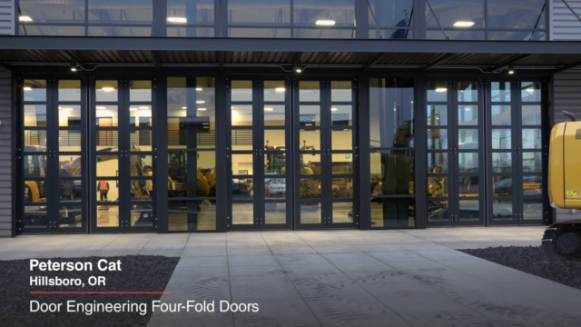 Door Engineering Four-Fold Doors at Peterson Cat, installed by Interior Tech