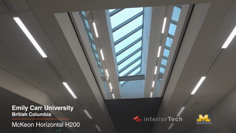 McKeon Horizontal H200 fire/safety partition at Emily Carr University, installed by Interior Tech