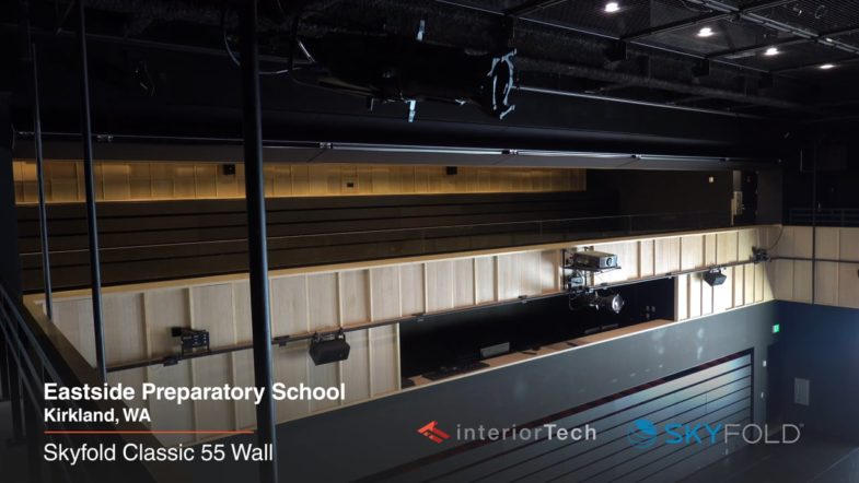 Skyfold Classic 55 Wall at Eastside Preparatory School, installed by Interior Tech