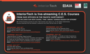 Live Streamed CES Courses from Interior Tech in the Pacific Northwest